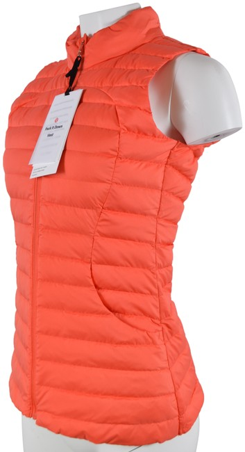 Item - Orange New Pack It Down Goose Down Puffer Vest Activewear Size 2 (XS)