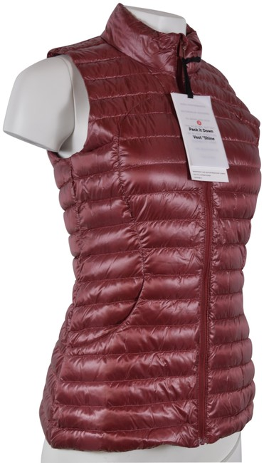 Item - Purple New Pack It Down Goose Down Puffer Vest Activewear Size 4 (S)