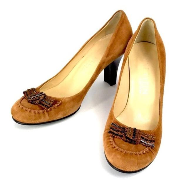 Item - Tan Brown Suede with Bow Pumps Size US 8.5 Regular (M, B)