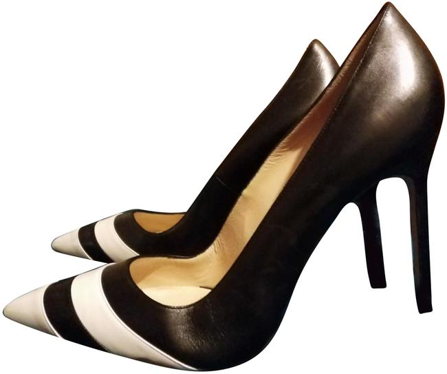 Item - Black White New and High Pumps Size EU 39.5 (Approx. US 9.5) Regular (M, B)