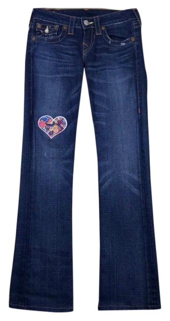Item - Blue Medium Wash World Section Becky Boot Cut Jeans Size 26 (2, XS)