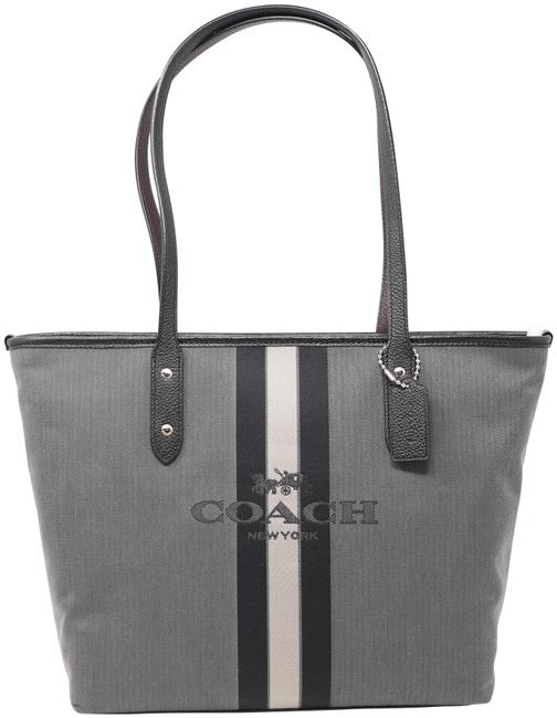 Item - City Horse and Carriage Black Canvas Tote