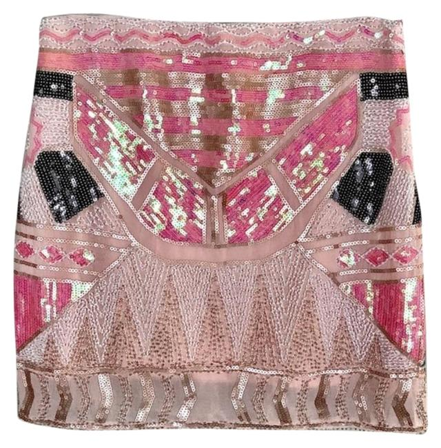 Item - Pink White Beaded Sequin Skirt Size 8 (M, 29, 30)