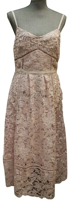 Ted Baker Pink Tie The Knot Lace Spaghetti Strap Tb Mid-length Night Out Dress Size 4 (S) Ted Baker Pink Tie The Knot Lace Spaghetti Strap Tb Mid-length Night Out Dress Size 4 (S) Image 1