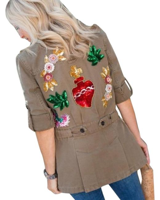 Item - Green Red W Nwot Holden Sequin Patches Jacket Size 0 (XS)