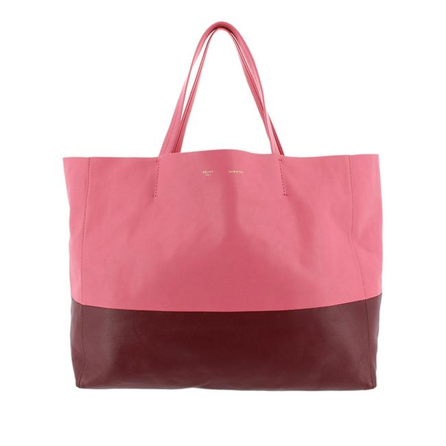 Céline Horizontal Cabas Bag Pink Leather Tote Céline Horizontal Cabas Bag Pink Leather Tote Image 1