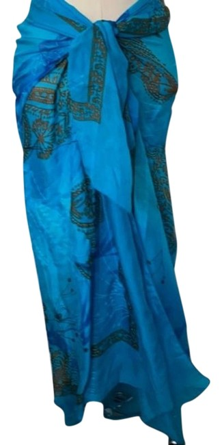 Item - Turquoise Silk Cover-up/Sarong Size OS (one size)