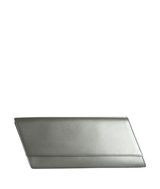Item - 314511 Diagonale (189920) Silver Leather Clutch