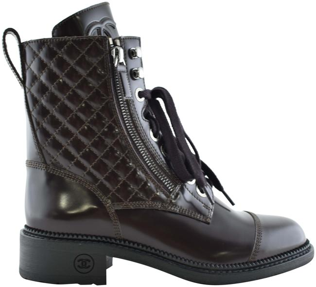 Item - Red 18k Burgundy Quilted Cc Combat Lace Up Tie Military Zipper Boots/Booties Size EU 36 (Approx. US 6) Regular (M, B)