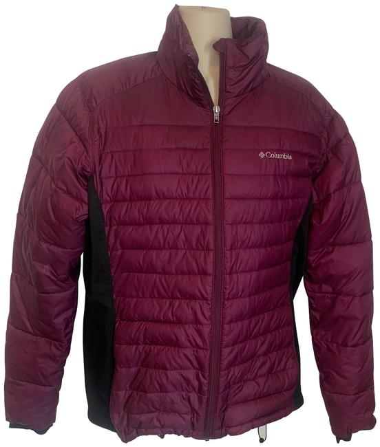 Item - Maroon and Black Puffer Jacket Coat Size 12 (L)