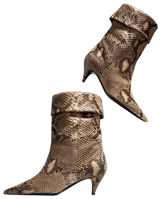 Item - Caramel and Brown Python Charlotte Pointed Boots/Booties Size EU 39 (Approx. US 9) Regular (M, B)