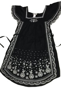 Other short dress Black with White Floral on Tradesy