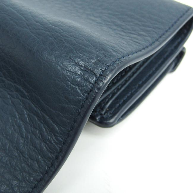 Item - Navy Paper Mini 391446 Women's Leather (Tri-fold) Wallet