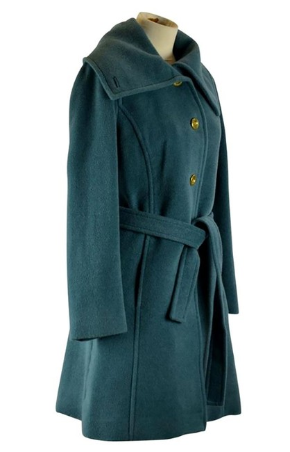 Item - Peacock Blue Belted Wool Day Signature Lining Coat Size 6 (S)