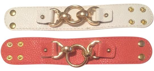 Preload https://item3.tradesy.com/images/lulu-white-pink-pair-of-adjustable-leather-cuffs-2793817-0-0.jpg?width=440&height=440