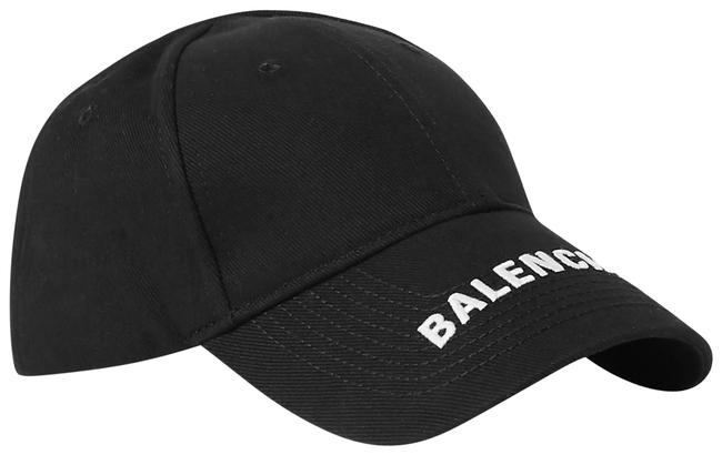 Item - Black Unisex Classic Baseball Cap with Embroidered Logo Hat