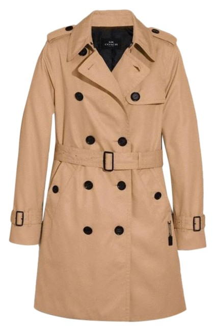 Item - Tan Length Belted Coat Size 4 (S)