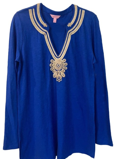 Item - Royal Blue with Gold Accent Emerson Tunic Size 12 (L)