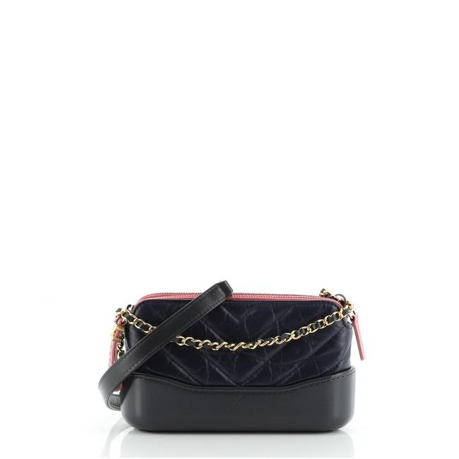 Chanel Gabrielle Clutch Double Zip with Chain Quilted Aged Calfskin Blue Gray Multicolor Leather Shoulder Bag Chanel Gabrielle Clutch Double Zip with Chain Quilted Aged Calfskin Blue Gray Multicolor Leather Shoulder Bag Image 1