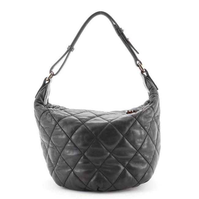 Chanel Cloudy Bundle Quilted Lambskin Black Leather Hobo Bag Chanel Cloudy Bundle Quilted Lambskin Black Leather Hobo Bag Image 1
