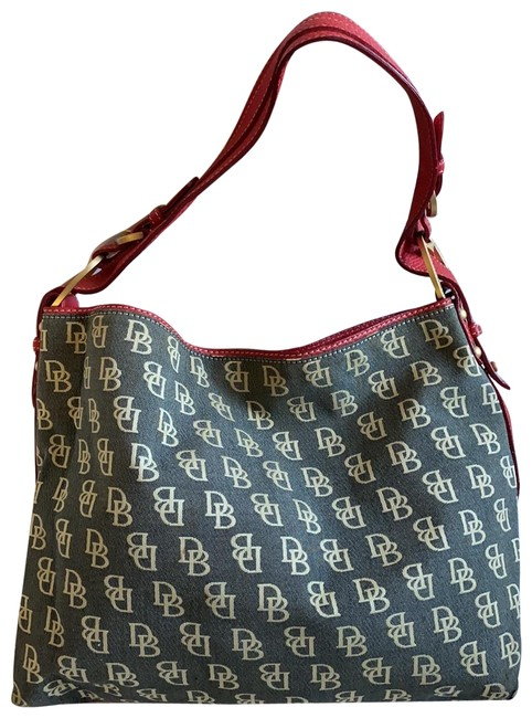 Item - Dooney&bourke Tote Red and Gray Coated Canvas Hobo Bag