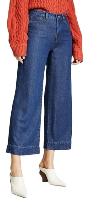 Item - Blue Holly High Waist Crop In Marina Trouser/Wide Leg Jeans Size 27 (4, S)