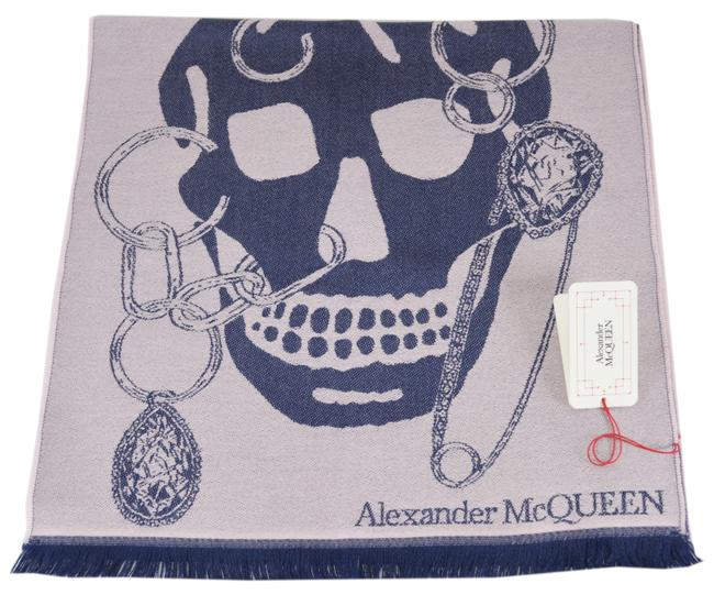 Item - Pink/Blue New Chained Big Skull Wool Scarf/Wrap
