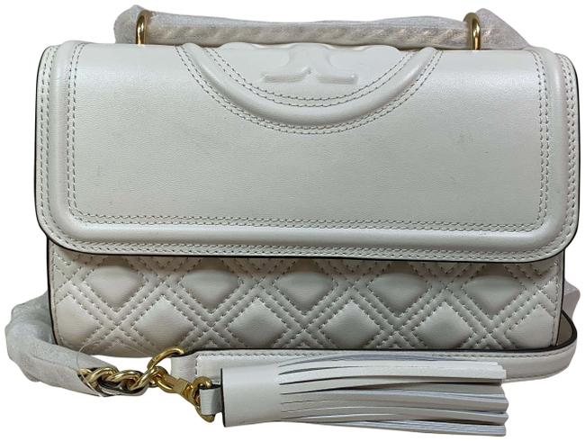 Item - Fleming Small White Leather Cross Body Bag