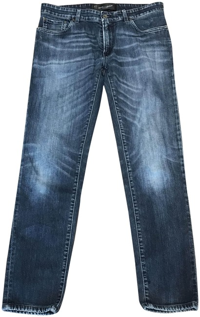 Item - Blue Light Wash Men 14 Stretch Relaxed Fit Jeans Size 34 (12, L)