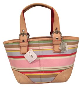 Coach Tote in Multi pink