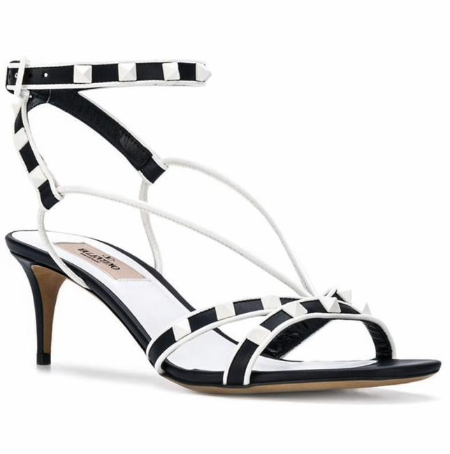 Item - Black Garavani Free Rockstud Ankle Wrap Heel Sandals Size EU 37.5 (Approx. US 7.5) Regular (M, B)