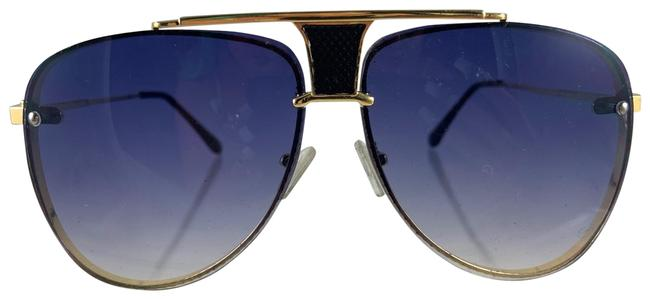 Lexico Fashion Blue/Gold Police Mesh Metal Aviator Sunglasses Lexico Fashion Blue/Gold Police Mesh Metal Aviator Sunglasses Image 1