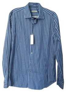 Boglioli Button Down Shirt Blue