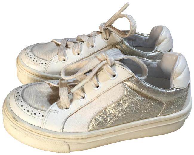 Item - White Gold Italy Lv Sneakers Size EU 34 (Approx. US 4) Regular (M, B)