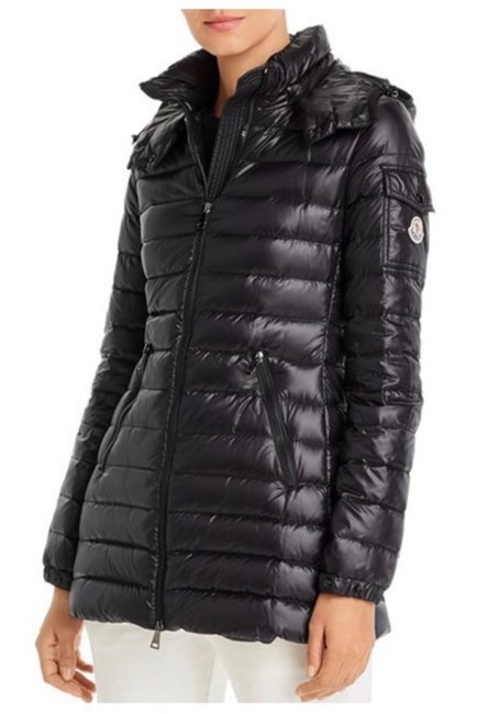 Moncler Black Menthe Hooded Quilted Shell Down Jacket 2 Coat Size 8 (M) Moncler Black Menthe Hooded Quilted Shell Down Jacket 2 Coat Size 8 (M) Image 1