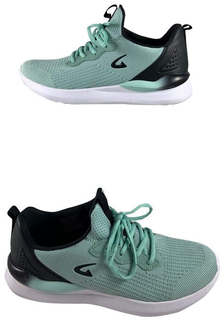 Item - Green/Blk 10'turquoise Gym Sneakers Size US 10 Regular (M, B)