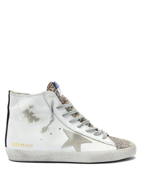 Item - White Mf Francy High-top Leather Trainers Sneakers Size EU 37 (Approx. US 7) Regular (M, B)