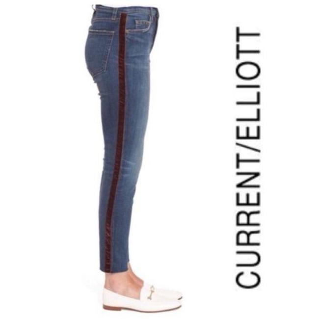 Item - Blue Red Medium Wash Stiletto Ankle Skinny Jeans Size 26 (2, XS)