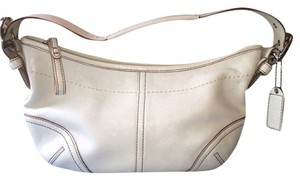 Coach Small Contrasting Trim Silver Buckles Shoulder Bag