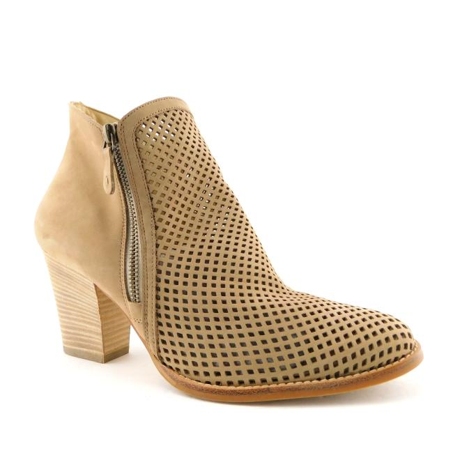 Item - Beige Tan Perforated Nubuck Leather Ankle 6.5uk/9us Boots/Booties Size US 9 Regular (M, B)