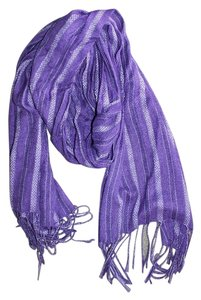 Unknown Long Purple Sparkle Scarf