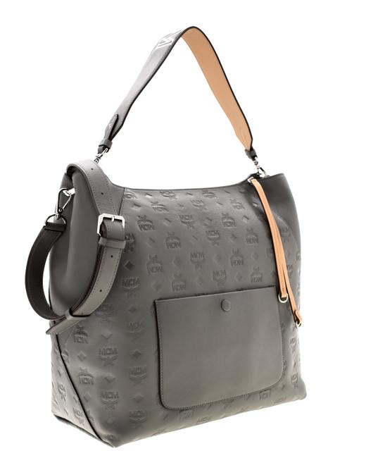 Item - Klara Grey Leather Hobo Bag