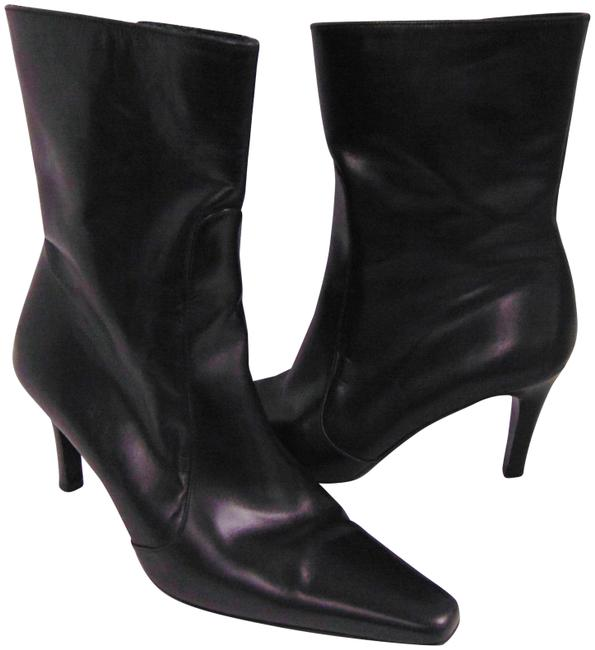Item - Black City Leather Ankle Boots/Booties Size US 7 Regular (M, B)