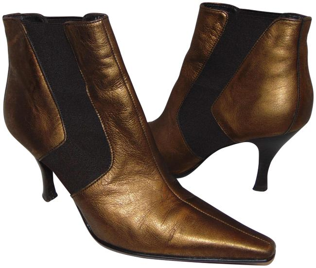 Item - Bronze Leather Pointy Ankle Boots/Booties Size US 8.5 Regular (M, B)