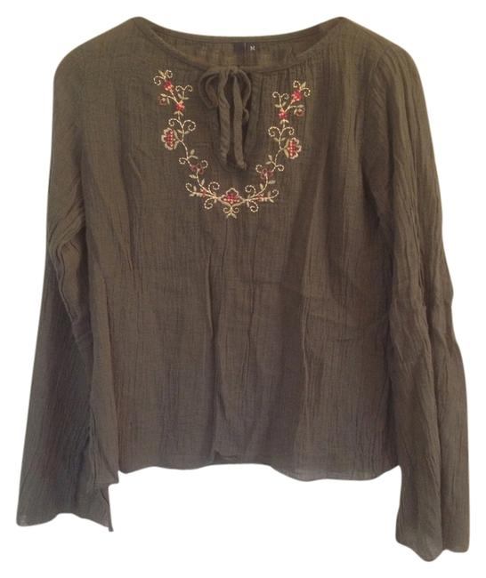 Preload https://item3.tradesy.com/images/green-boho-embroidered-floral-chic-festival-blouse-size-8-m-2794327-0-0.jpg?width=400&height=650