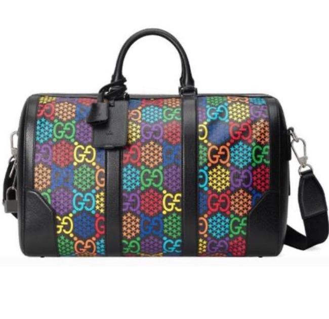 Item - Duffle Multi Color Coated Canvas Leather Weekend/Travel Bag