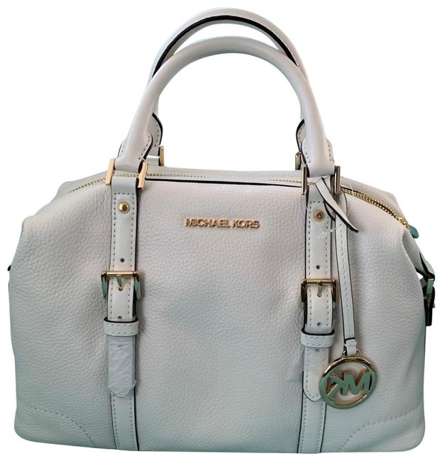 Item - Ginger Large Duffel White Leather Satchel