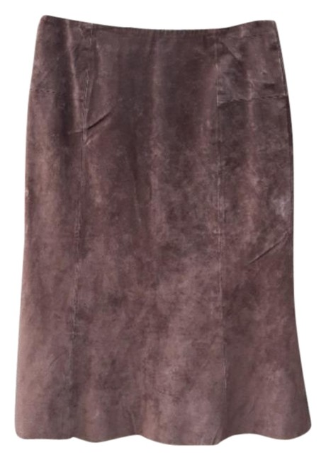 Item - Cocoa Brown Flare Hem Suede Skirt Size 6 (S, 28)