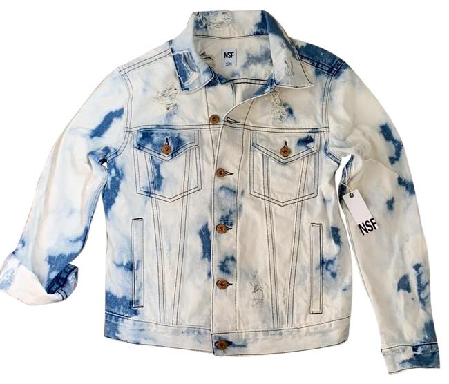 NSF Denim Distressed Bleached Jacket Size 4 (S) NSF Denim Distressed Bleached Jacket Size 4 (S) Image 1