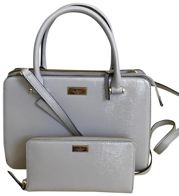 Item - Zippy Wallet Bixby Place Lise & Matching Grey Patent Leather Tote